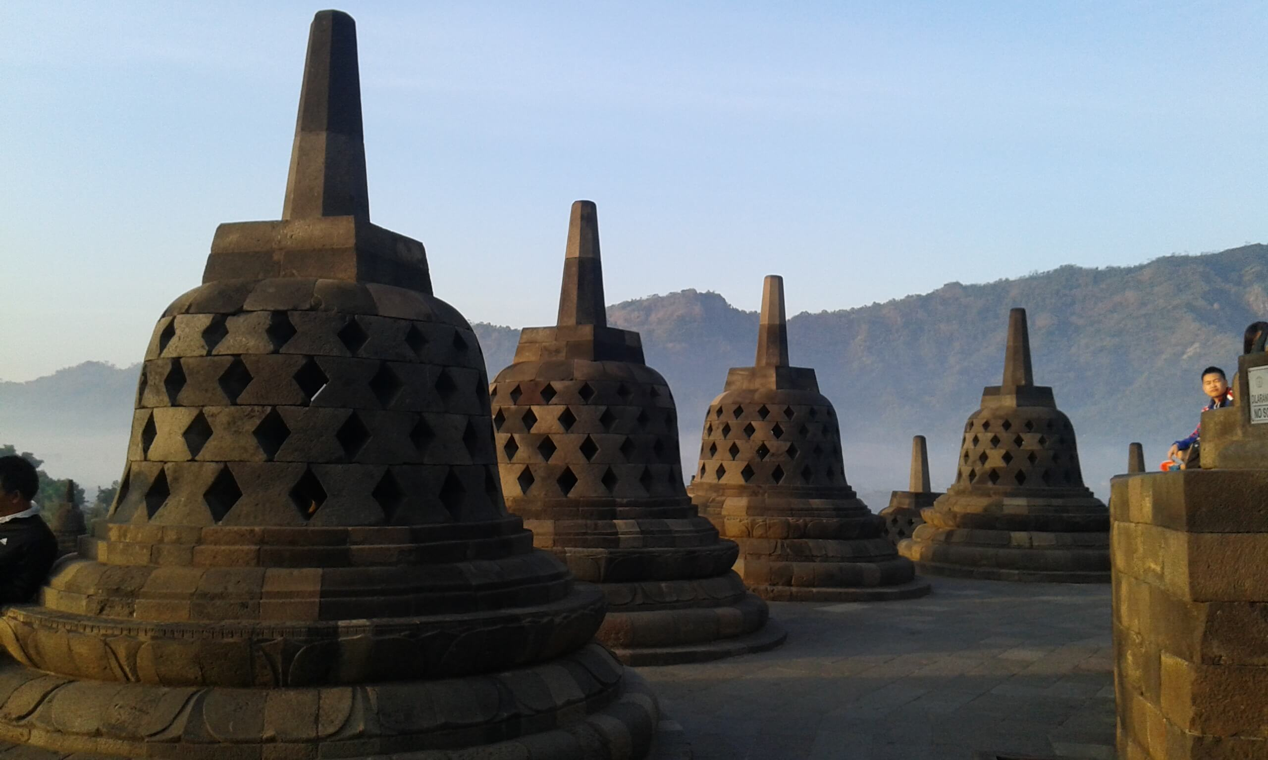 Stupa in Borobudur Temple