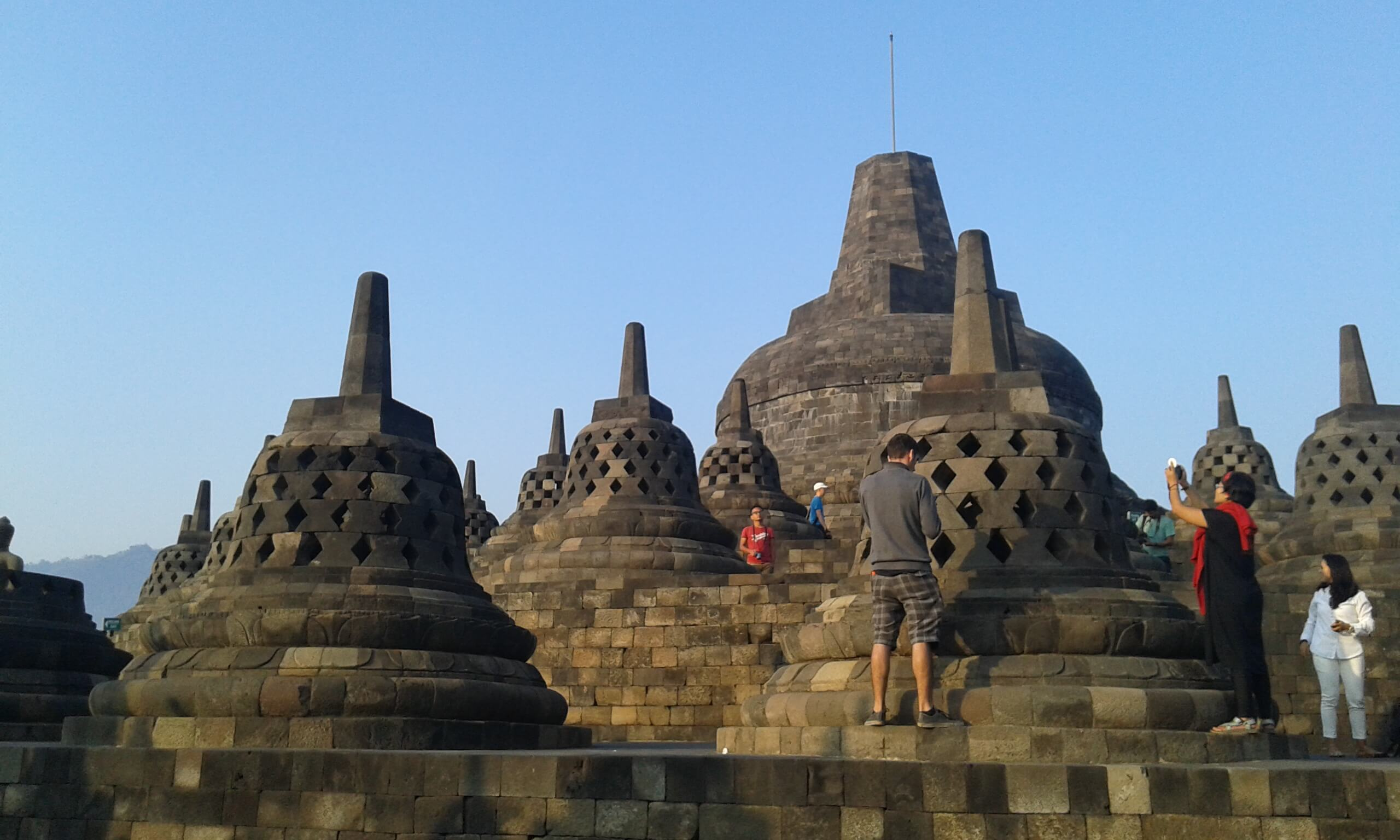 Stupa at third level of Borobudur temple