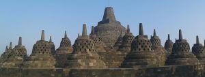 Third level of Borobudur temple